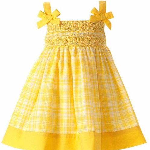 Rachel Riley Yellow Smocked Sundress