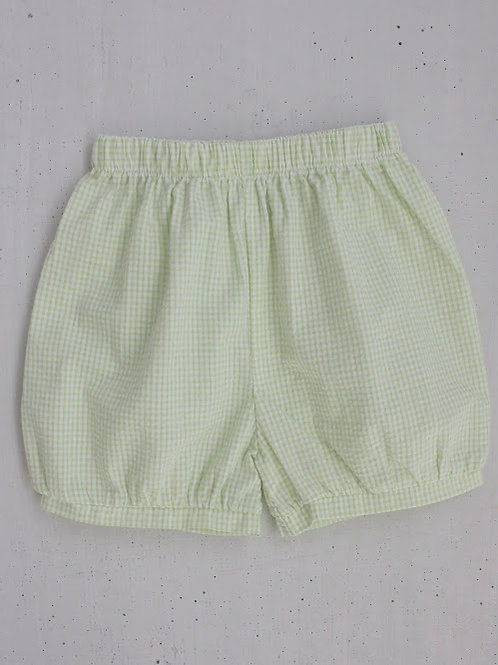 Little English Green Banded Shorts