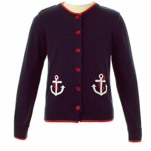 Rachel Riley Anchor Cardigan Sweater