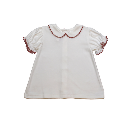 Lullaby Set Red Ric Rac Blouse 4t
