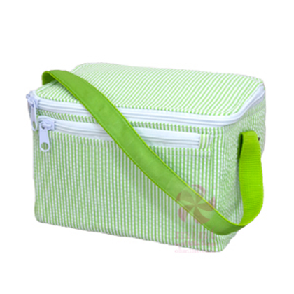 Spring Green Seersucker Lunchbox