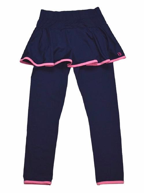 Set Athleisure Navy w Pink Quinn Skirt/Legging