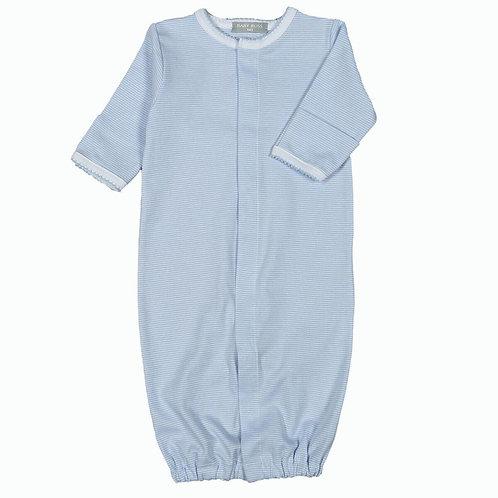 Baby Bliss Pima Blue Stripe Converter Gown/Romper