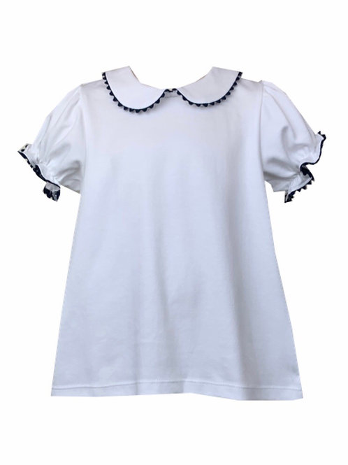 Lullaby Set Navy Ric Rac Pima Short-Sleeve Shirt
