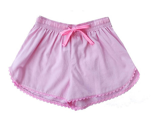 SET Athleisure Pink with Pink Ric Rac Emily Shorts