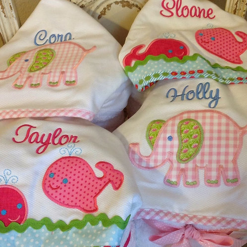 Pink Elephant Hooded Towel