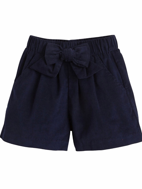 Little English Navy Cord Bow Shorts 4t, 4, 6