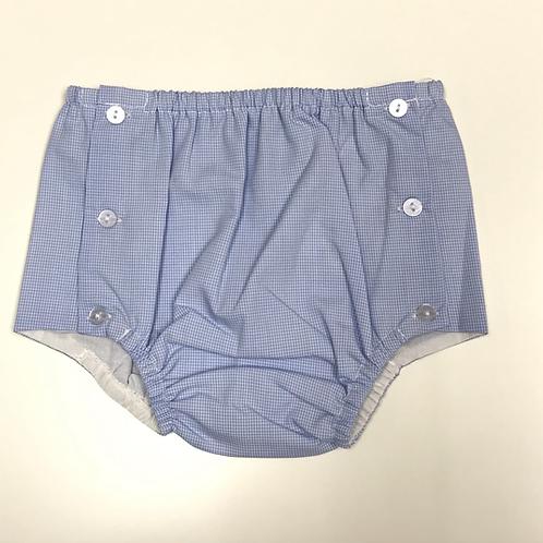 Remember Nguyen Light Blue Gingham Diaper Cover