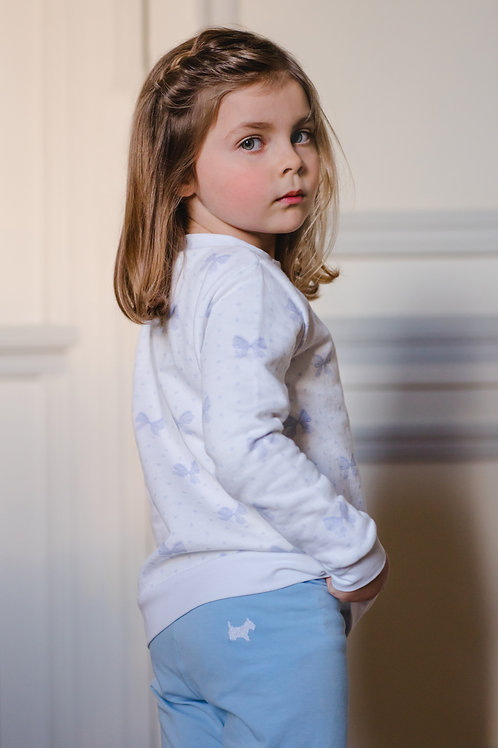 Sal & Pimenta Blue/Lavender Bows Sweatshirt