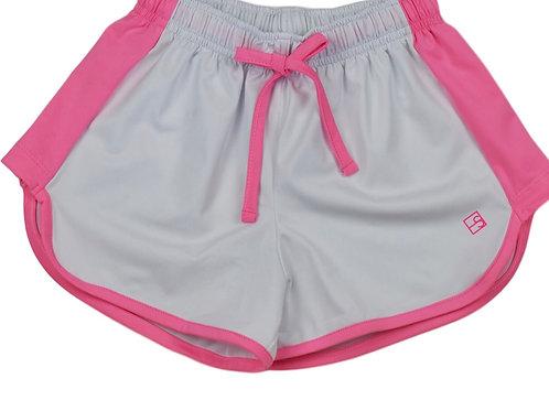 Set Athleisure White with Pink Annie Shorts