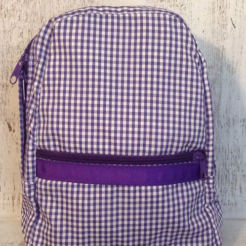 Purple Gingham Preschool/Small Backpack