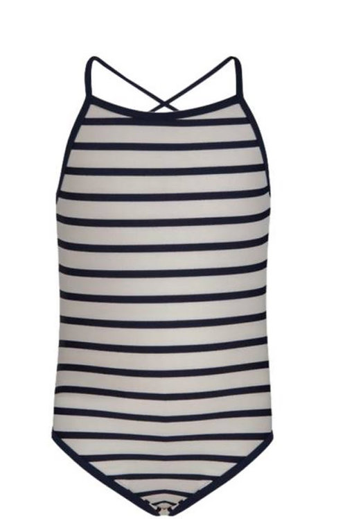 Snapper Rock Navy and White Stripe Bathing Suit