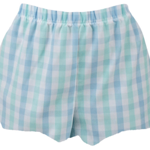 Lullaby Set Blue and Green Plaid Bloomer