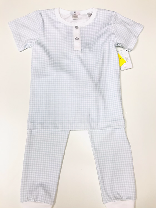 Baby Bliss Pima Blue Gingham Pajamas