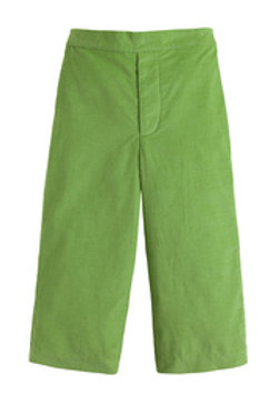 Little English Green Cord Pants-flat front 4t, 4, 5, 6
