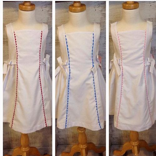 White Pique Ric Rac Dress