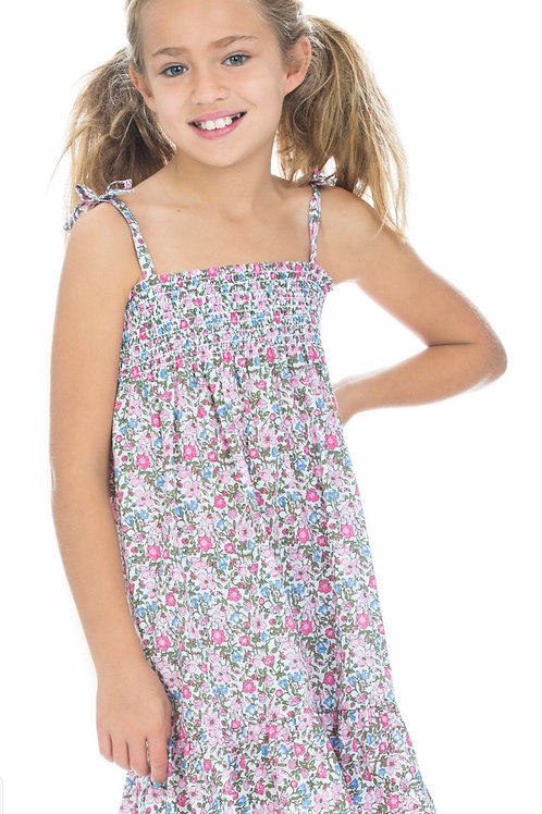 Bisby Kids Lucy Dress in Pink Petite Garden Floral size 5-12