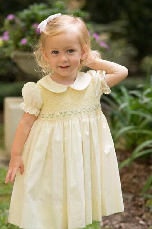 Lullaby Set Yellow Smocked Dress