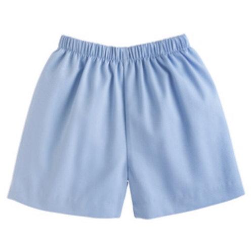 Little English Light Blue Twill Basic  Shorts 12,18mo, 7,8