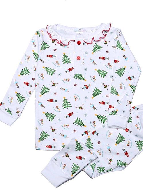 Baby Bliss Pima Nutcracker  Christmas Girls Loungewear 3t, 6