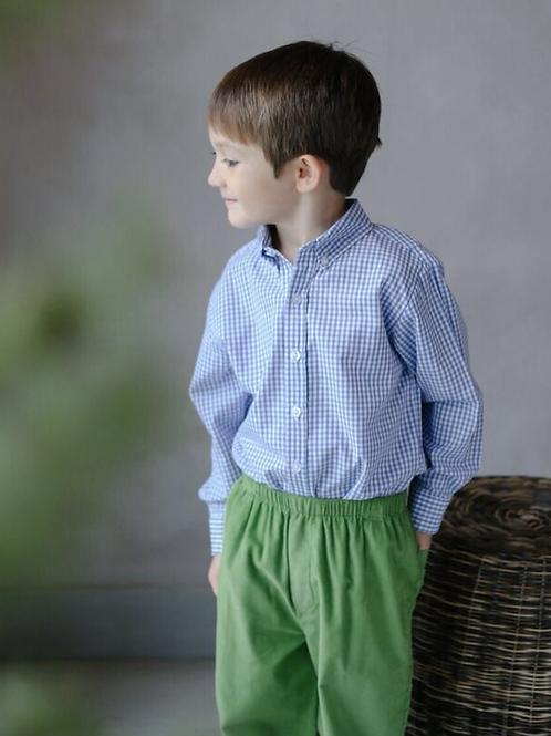 Little English Green Cord Basic Pants 24 mo, 4t