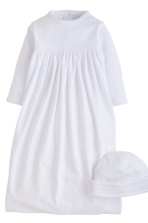Little English White Layette Gown Set