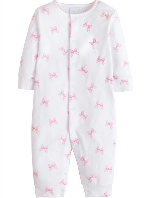 Little English Bows and Polka Dots Pima Footie