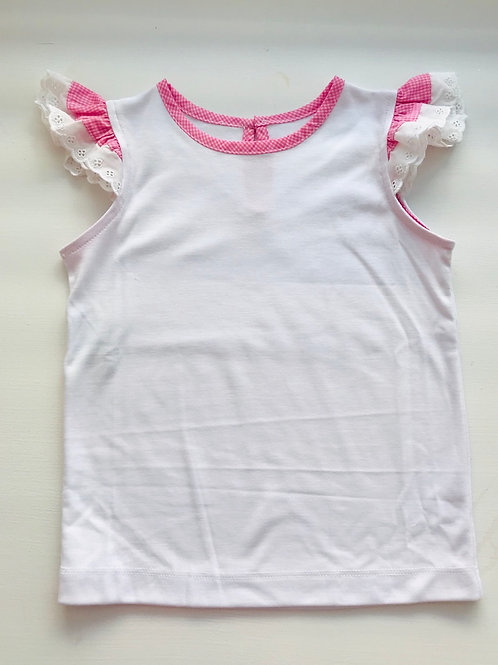 Lullaby Set Bright Pink Angel Sleeve Shirt