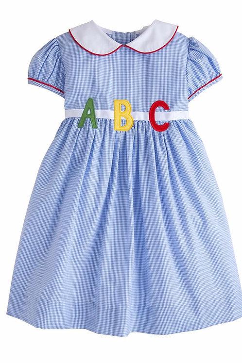 Little English ABC Applique Marisa Dress 3T,5