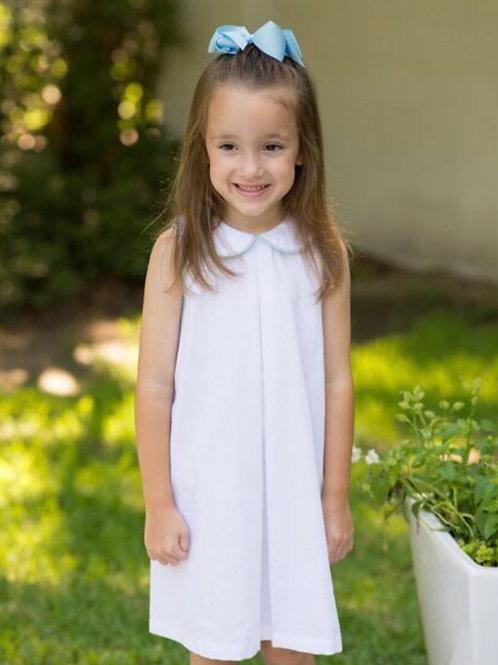Lullaby Set White with Light Blue Trim Peter Pan Dress