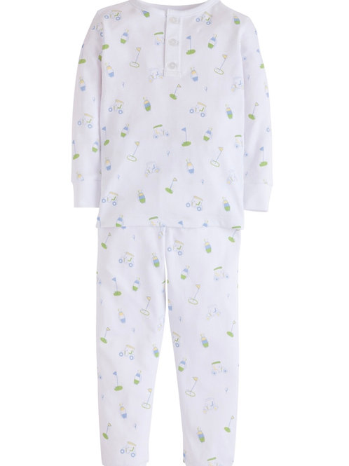 Little English Boy Golf Pima Pajamas 3t, 5