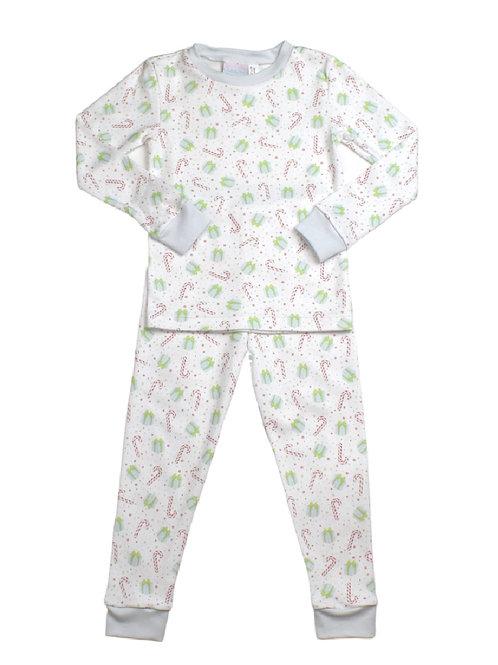 Lullaby Set Blue Christmas Pima Pajamas