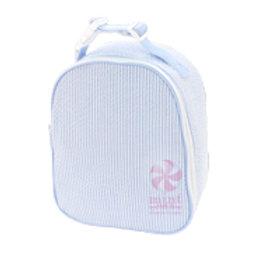 Light blue Seersucker Gumdrop Lunchbox