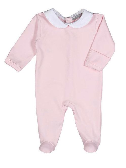Baby Bliss Pima Peter Pan Pink Romper