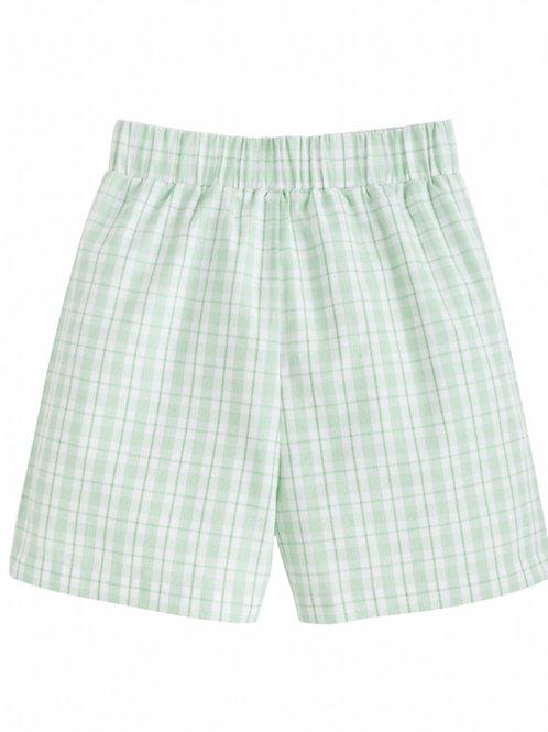 Little English Green Plaid Shorts