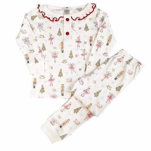 Baby Bliss Pima Pastel Nutcracker Girl Pajamas
