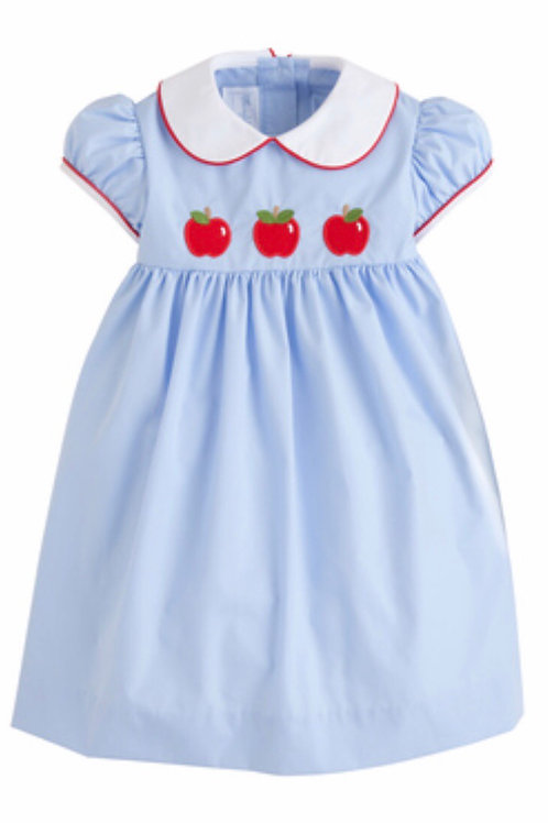 Little English Apple Applique Poppy Dress 24 mo