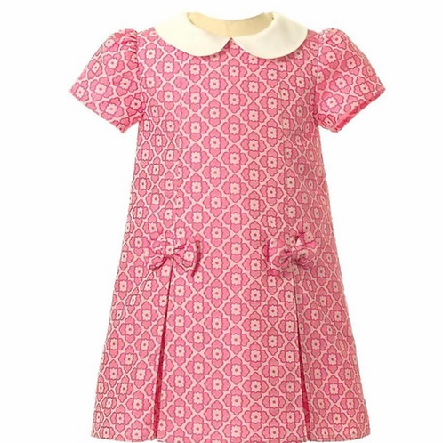 Rachel Riley Peter Pan Damask Dress