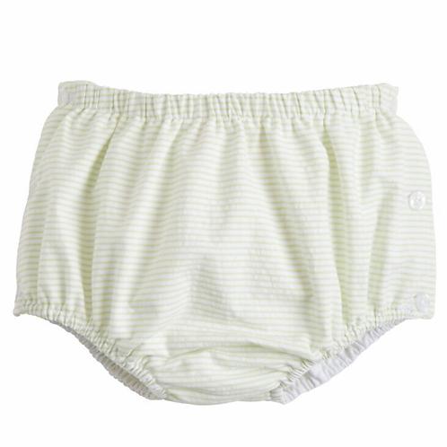 Little English Green Seersucker Diaper Cover