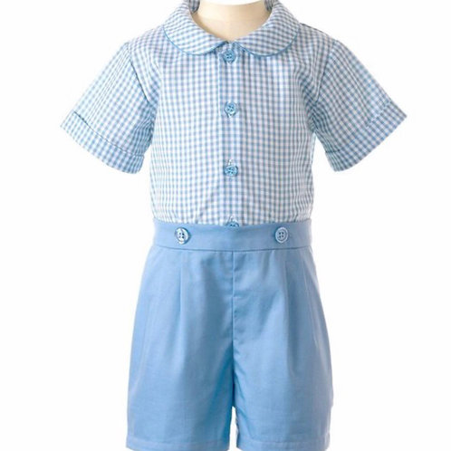 Rachel Riley Blue Gingham Short Set