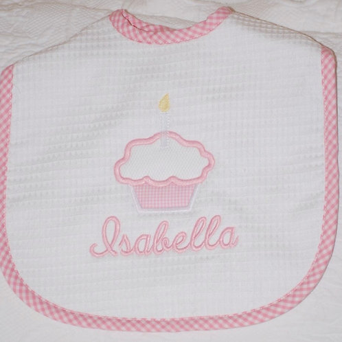 Large Pique Bib with Appliqué and Name