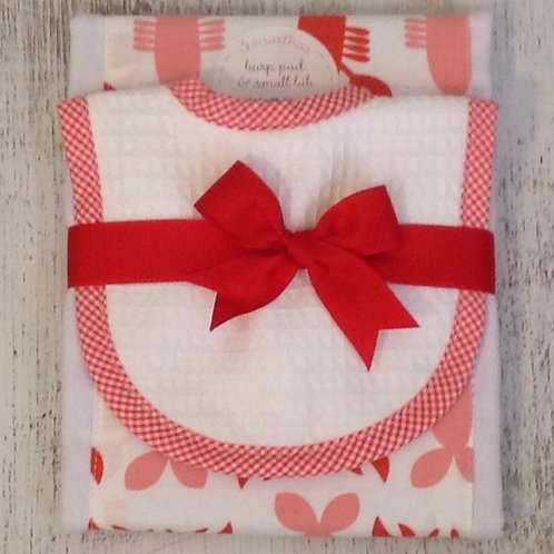 3 Marthas Lobster Bib/Burp Set
