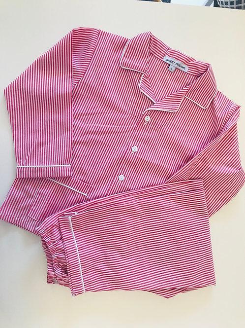 Red Striped Pajamas 12 mo