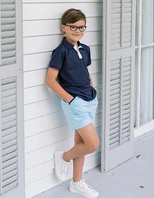 Set Athleisure Parker Polo navy/white