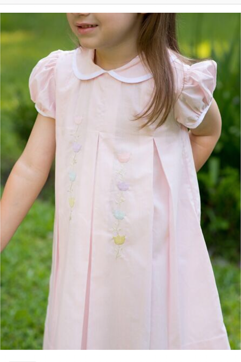 Lullaby Set Pink Embroidered Flower Dress