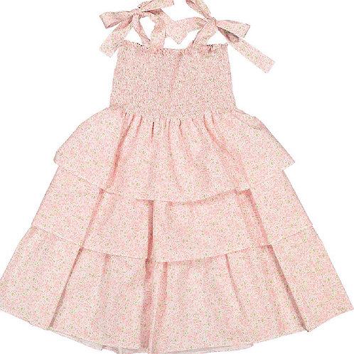 Sal & Pimenta Pink Lily Bows Sundress