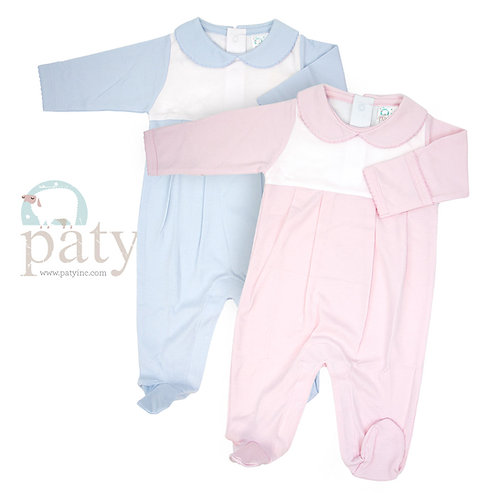 Paty Footed Romper-2 color