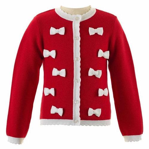 Rachel Riley Red Bow Cardigan Sweater
