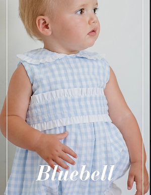 Sal & Pimenta Bluebell Gingham Band Bubble