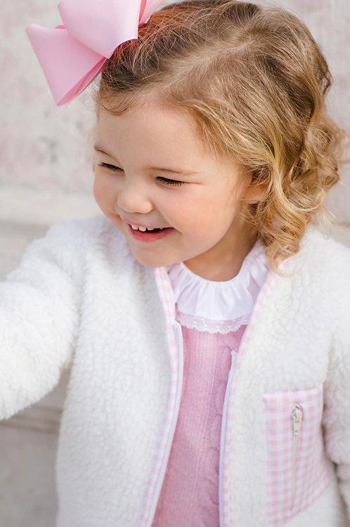 Sal & Pimenta Pink Gingham Fleece